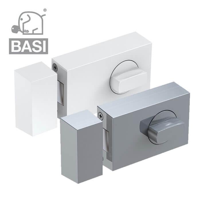 Wei/ß Basi/® Kastenzusatzschloss mit Sperrb/ügel KS500 T/ür-Zusatzschloss Edelstahl Braun Silber