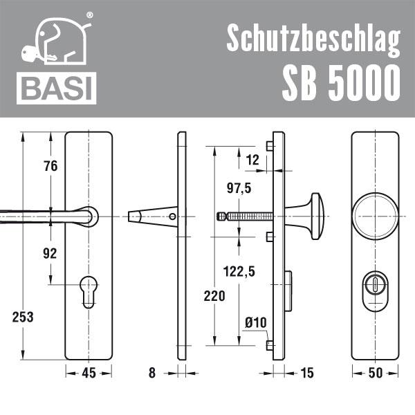 sb5000 schutzbeschlag mit zylinderabdeckung g nstig schl ssel discount shop. Black Bedroom Furniture Sets. Home Design Ideas