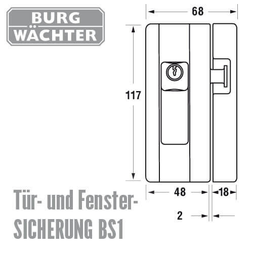 Fenstersicherung blocksafe 1 g nstig schl ssel discount shop for Fenstersicherungen gegen aufhebeln