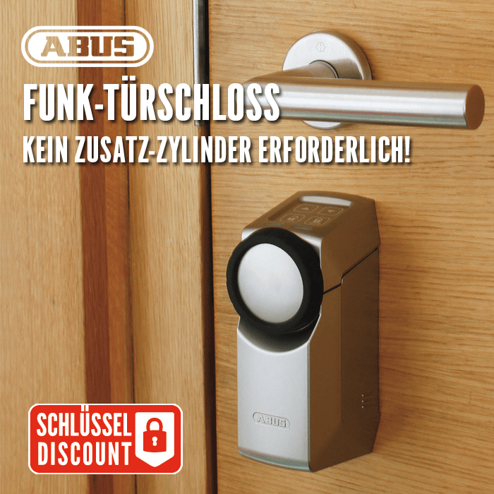 hometec pro funk t rschloss abus g nstig schl ssel discount shop. Black Bedroom Furniture Sets. Home Design Ideas