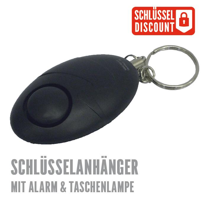Schlüsselanhänger mit Schutzalarm & LED-Taschenlampe günstig ...