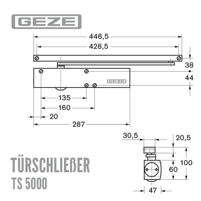 Türschließer Geze TS 5000 silber