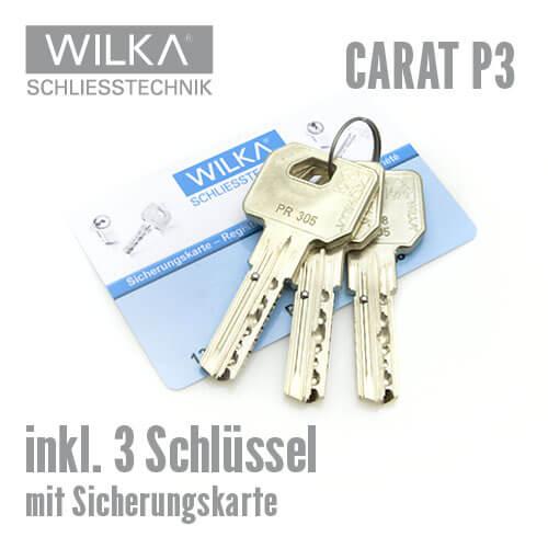 wilka p3 schlie zylinder mit sicherungskarte made in germany. Black Bedroom Furniture Sets. Home Design Ideas