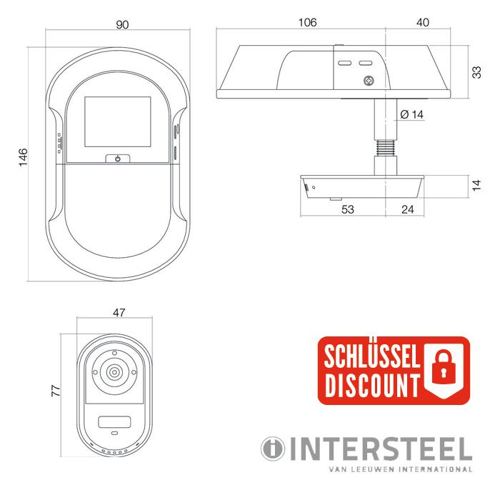 digitaler t rspion mit wlan und app f r unterwegs g nstig schl ssel discount shop. Black Bedroom Furniture Sets. Home Design Ideas