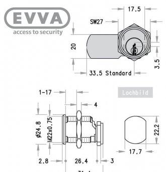 evva-eps-hebelzylinder_mb23g