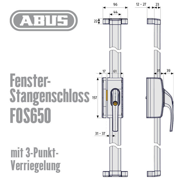fenster stangenschloss fos650 g nstig schl ssel discount shop. Black Bedroom Furniture Sets. Home Design Ideas