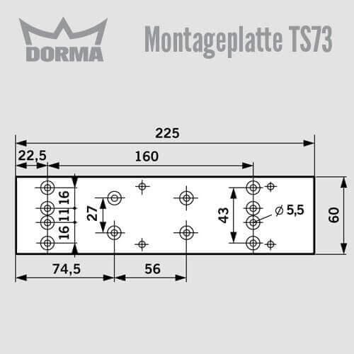 montageplatte ts 73 g nstig schl ssel discount shop. Black Bedroom Furniture Sets. Home Design Ideas
