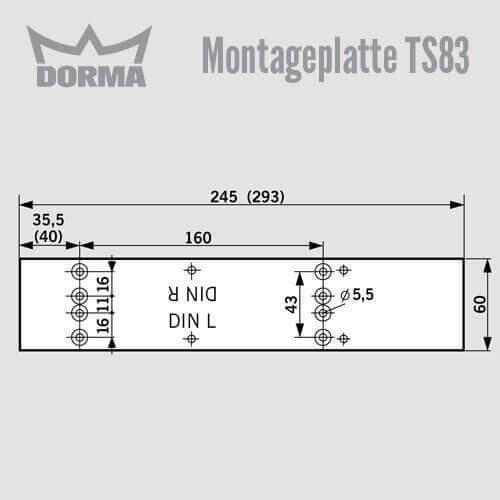 montageplatte ts 83 g nstig schl ssel discount shop. Black Bedroom Furniture Sets. Home Design Ideas