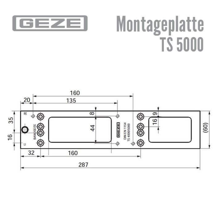 montageplatte ts 5000 g nstig schl ssel discount shop. Black Bedroom Furniture Sets. Home Design Ideas
