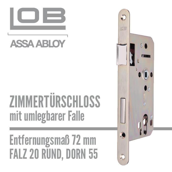 lob zimmert rschloss z755 20 55 72 falz rund mit umlegbarer falle. Black Bedroom Furniture Sets. Home Design Ideas