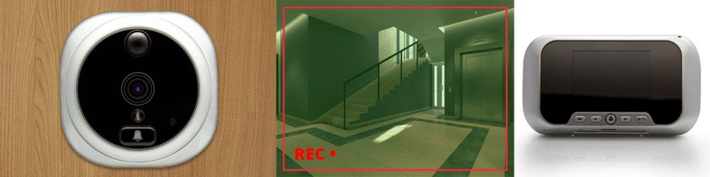 Digitaler Türspion mit Bewegungserkennung