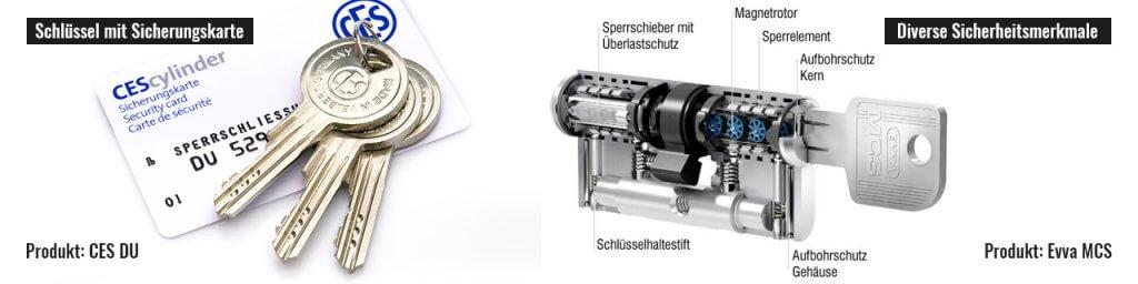 Sicherheits-Profilzylinder mit diversen Sicherheitsmerkmalen